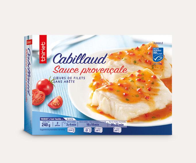 2 Coeurs de filets de cabillaud sauce provençale