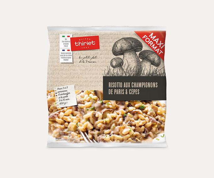 Risotto aux champignons et cèpes - Maxi format - 600g