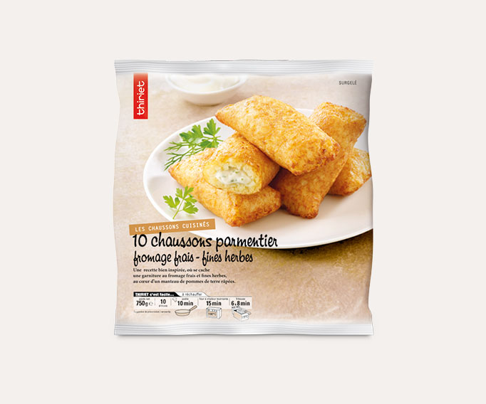 10 Chaussons parmentier fromage frais - fines herbes