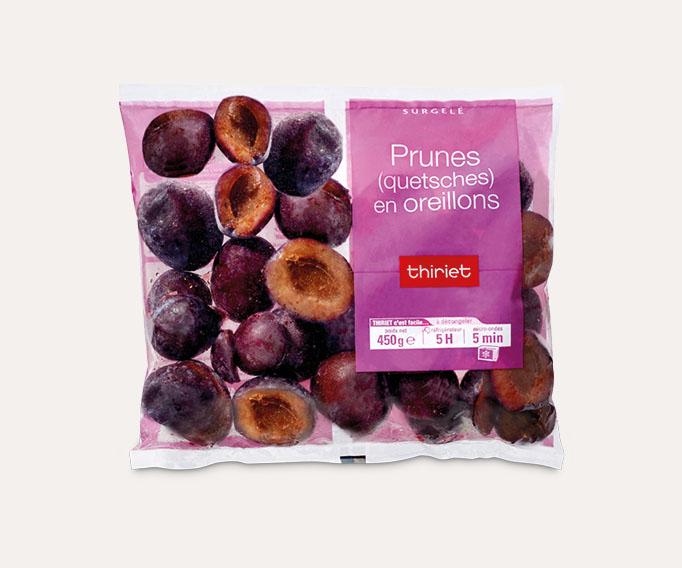 Prunes (quetsches) en oreillons