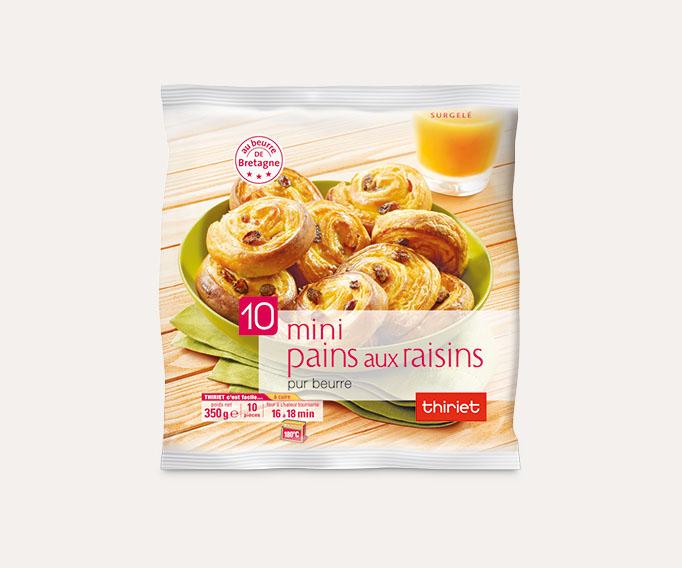 10 Mini viennoiseries pur beurre Lot de 2 sachets au choix