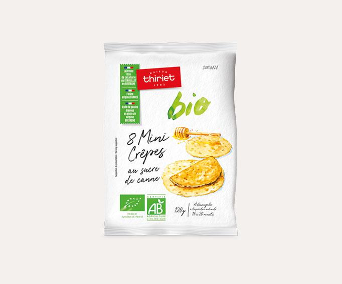 8 Mini crêpes au sucre de canne biologiques