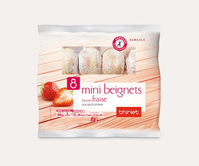 8 Mini beignets fourrés fraise
