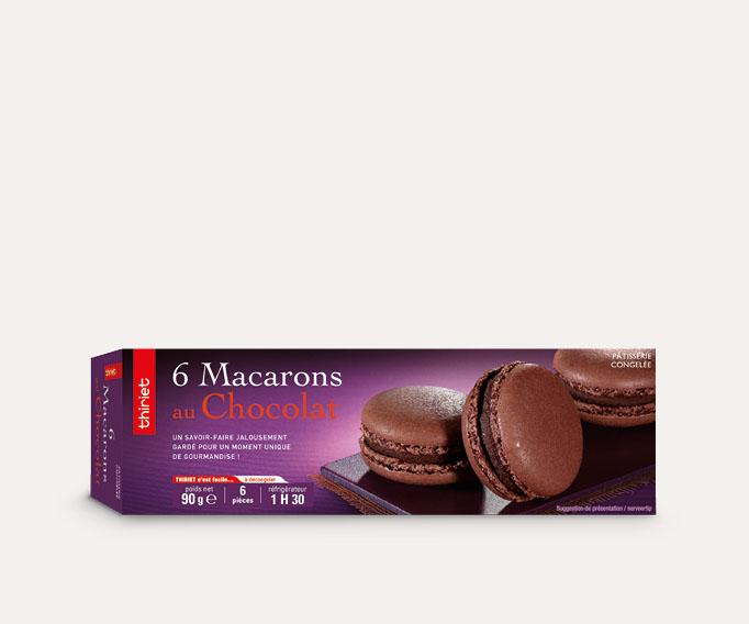 6 Macarons au chocolat