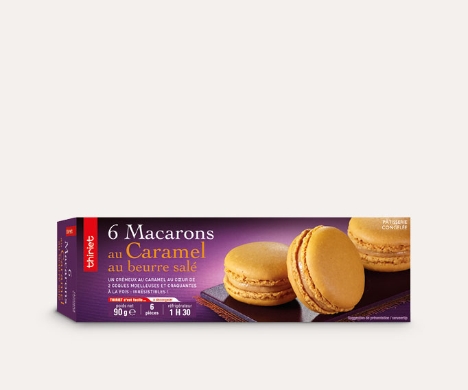 6 Macarons - mono-parfum Lot de 2 boîtes au choix