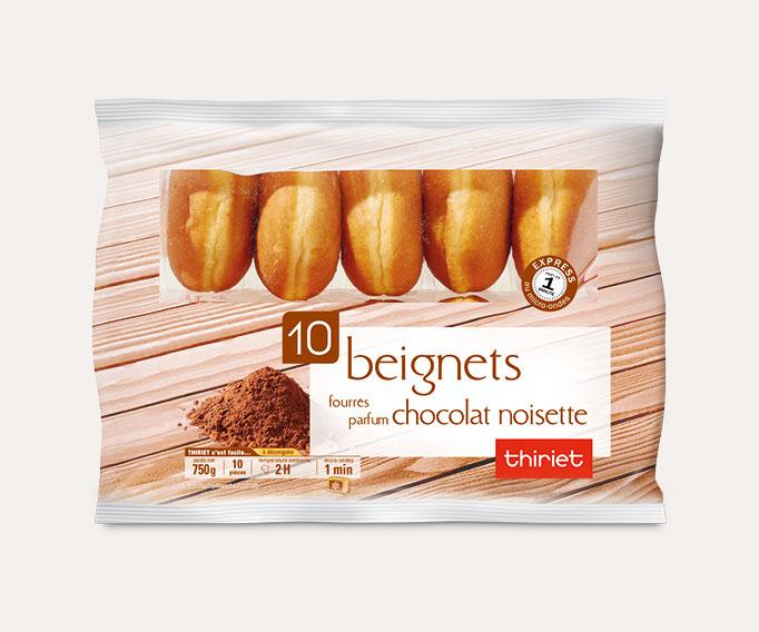10 Beignets fourrés parfum chocolat noisette