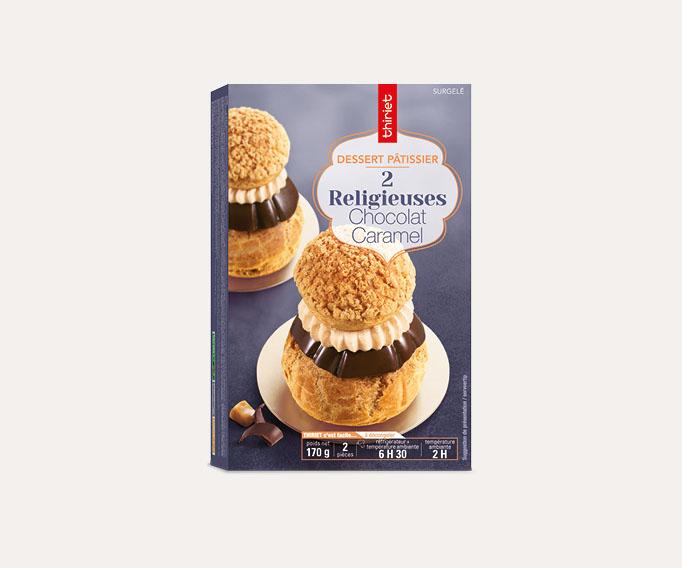 2 Religieuses chocolat/caramel