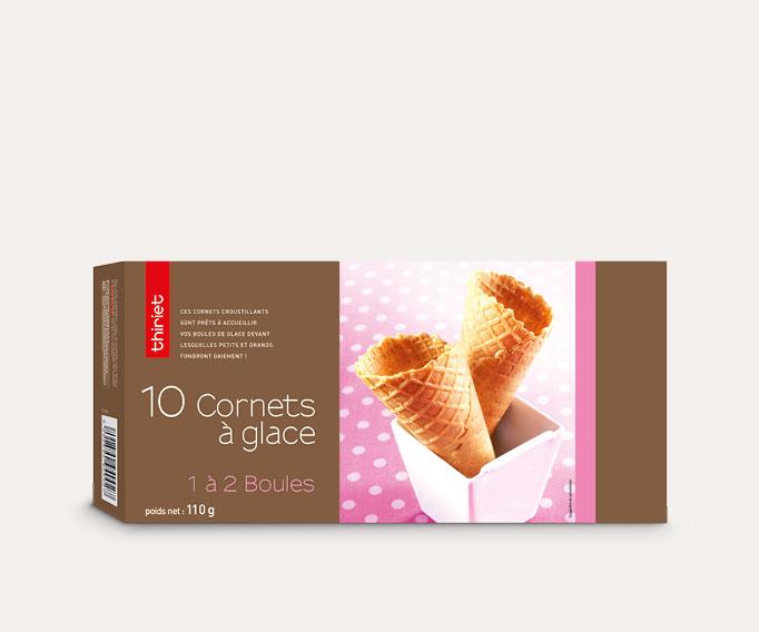 10 Cornets à glace 1 à 2 boules