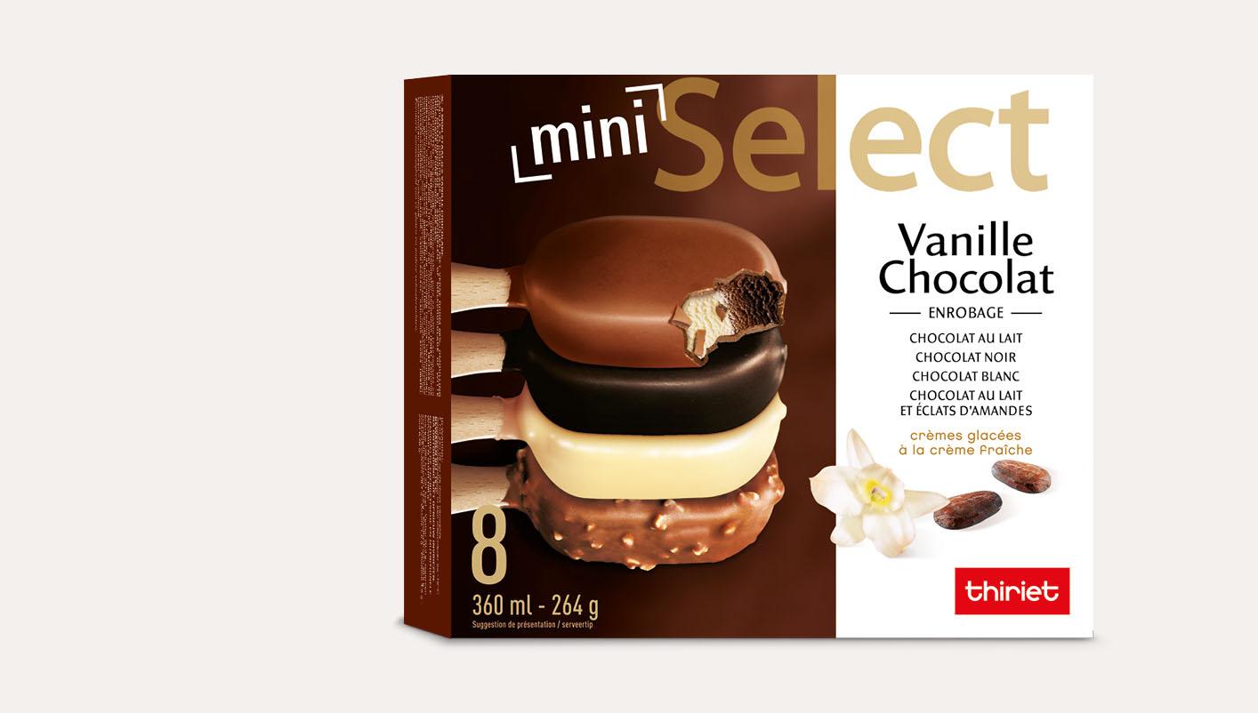 8 Select™ Mini bâtonnets Vanille/Chocolat assortis