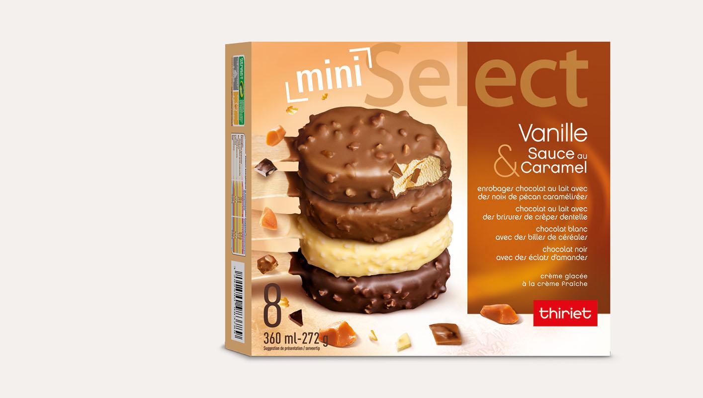 8 Select™ Mini bâtonnets Vanille/Caramel assortis