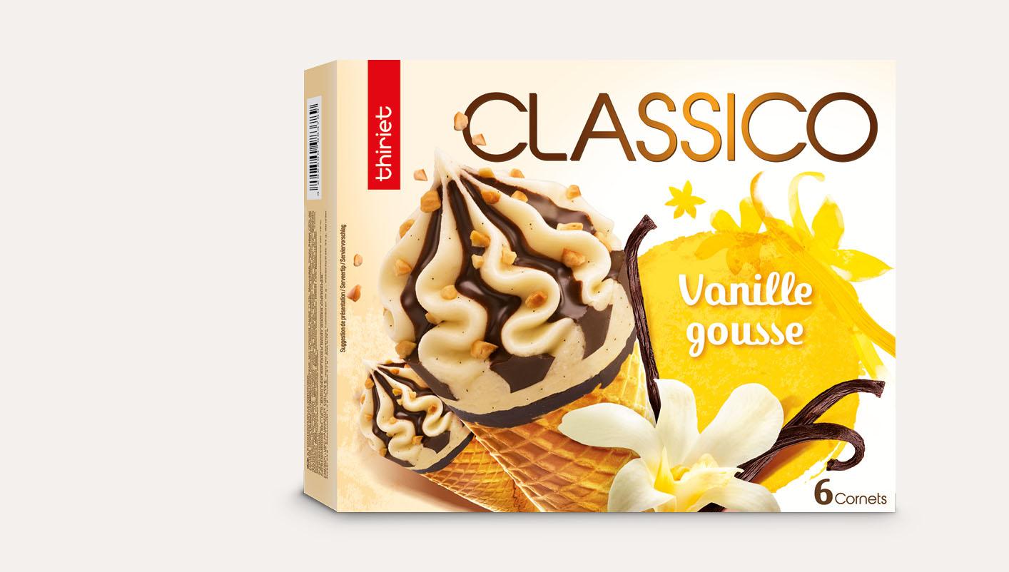 6 Cornets Classico Vanille gousse