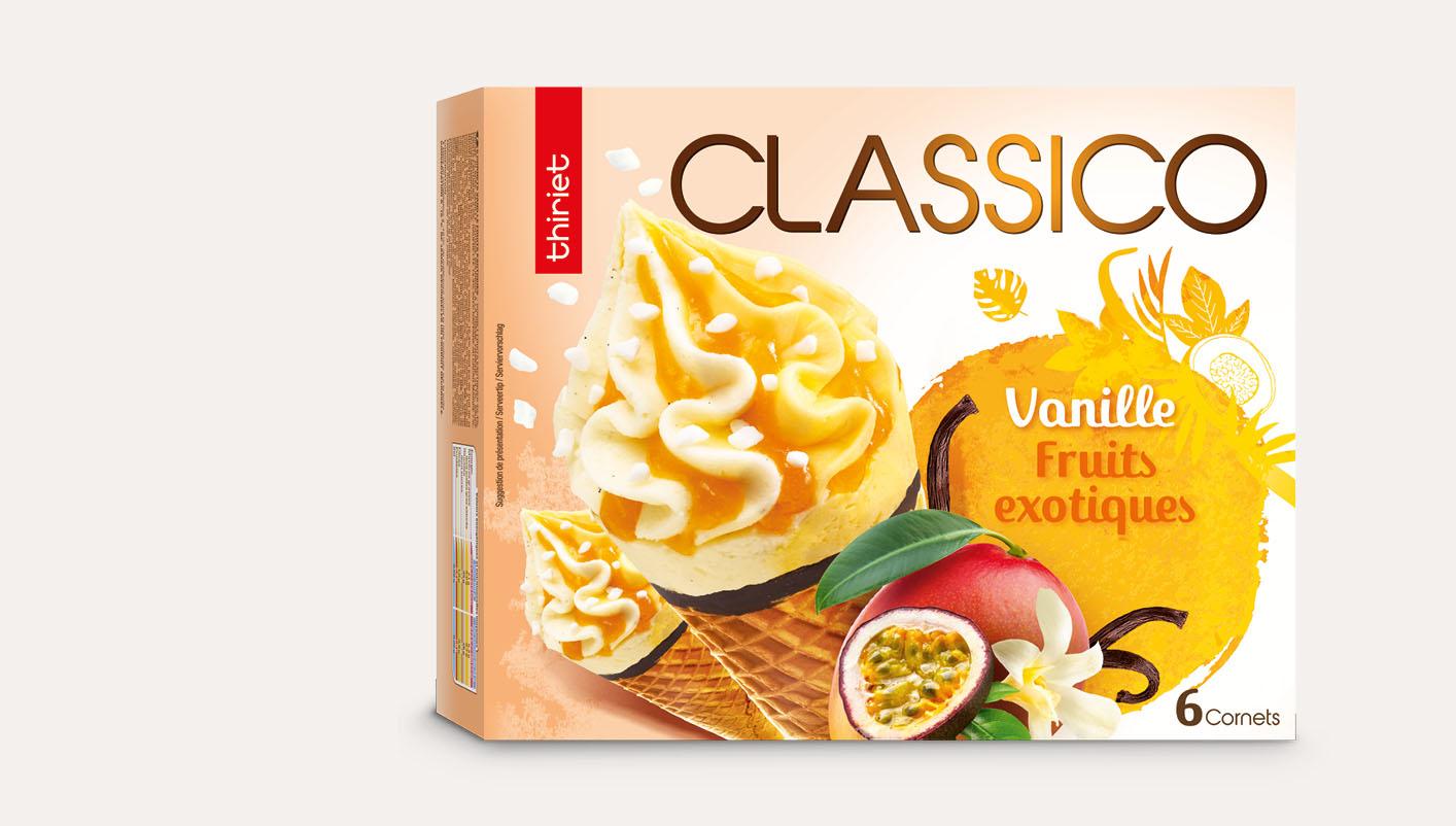 6 Cornets Classico Vanille gousse/Fruits exotiques