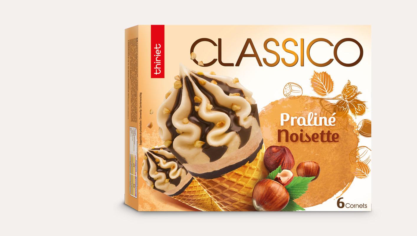 6 Cornets Classico Praliné/noisette