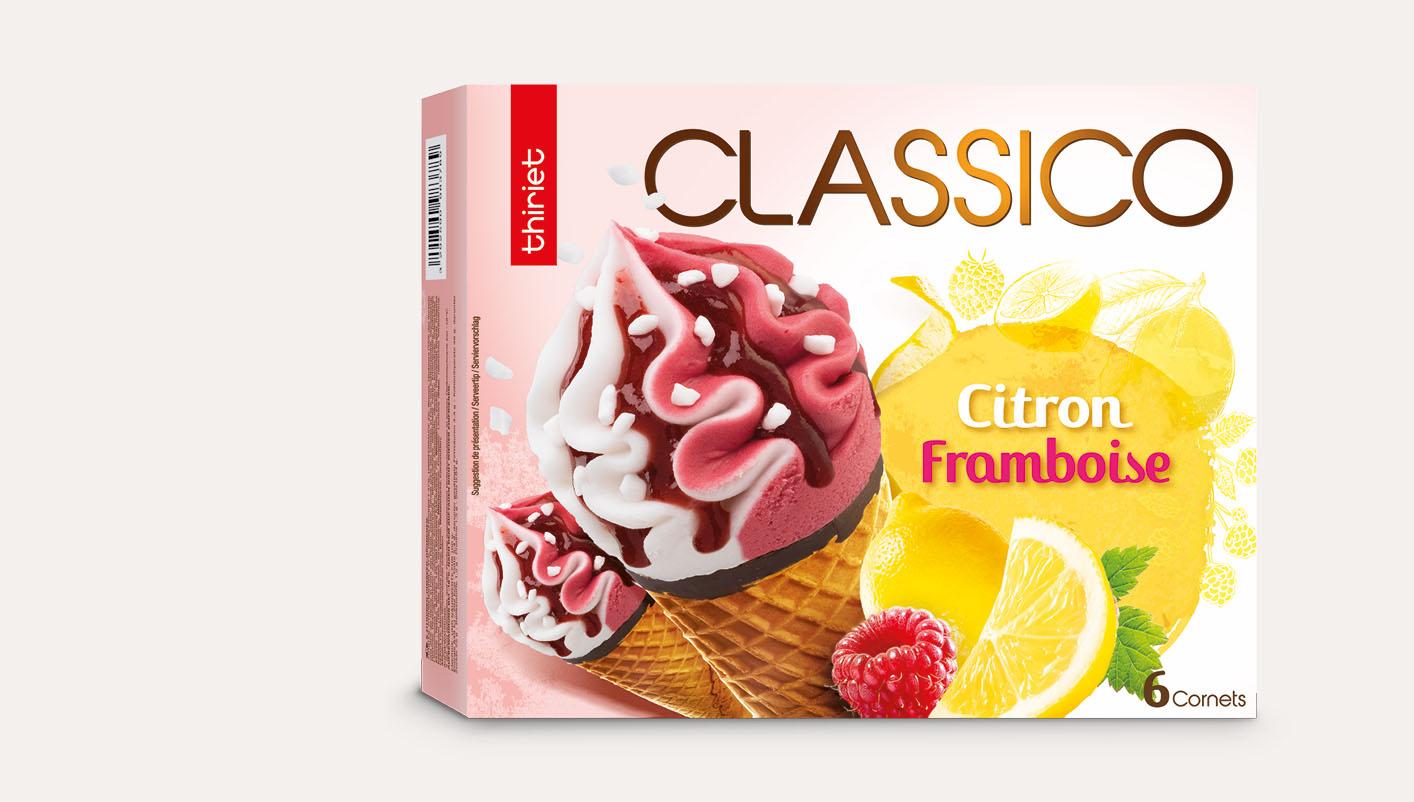 6 Cornets Classico Citron/Framboise