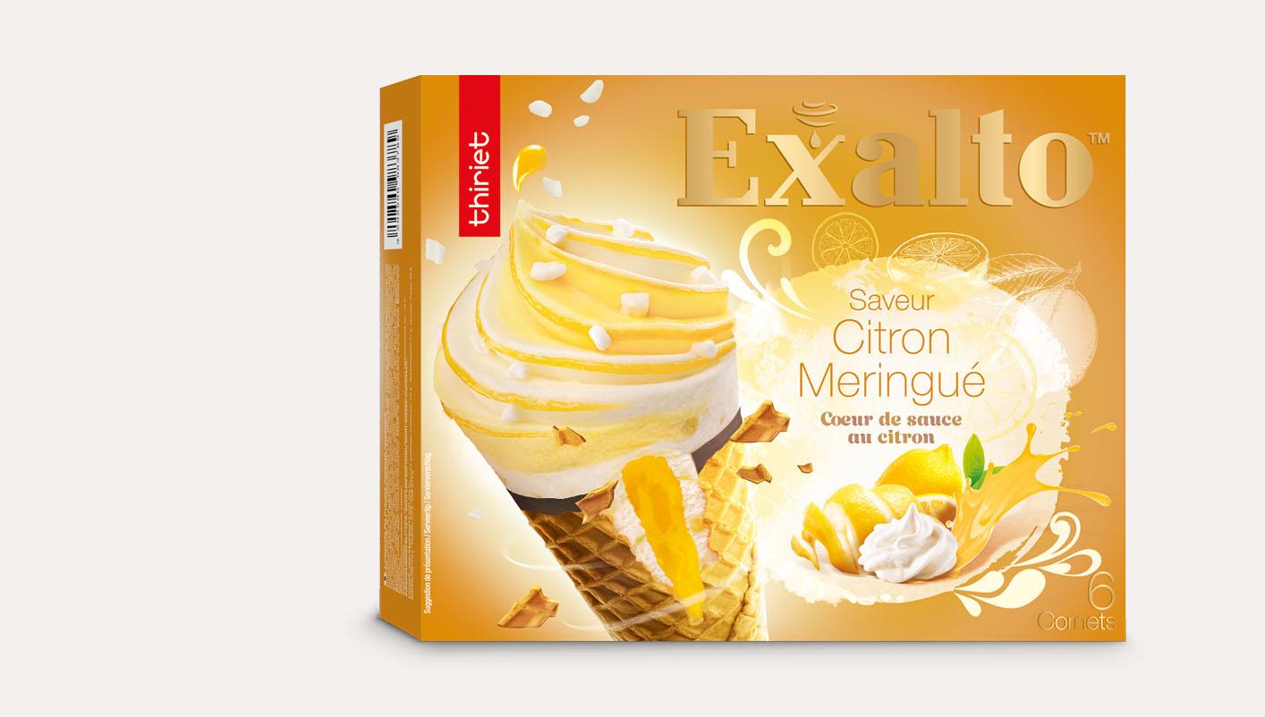 6 Cornets Exalto™ Saveur citron meringué