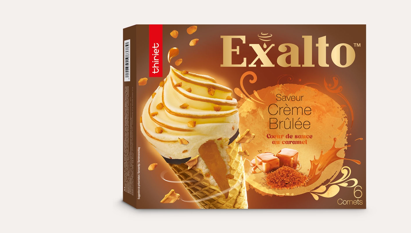 6 Cornets Exalto™ Saveur crème brûlée