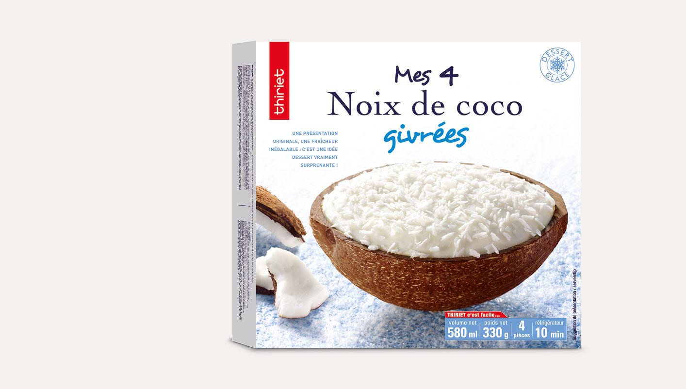 4 Noix de coco givrées