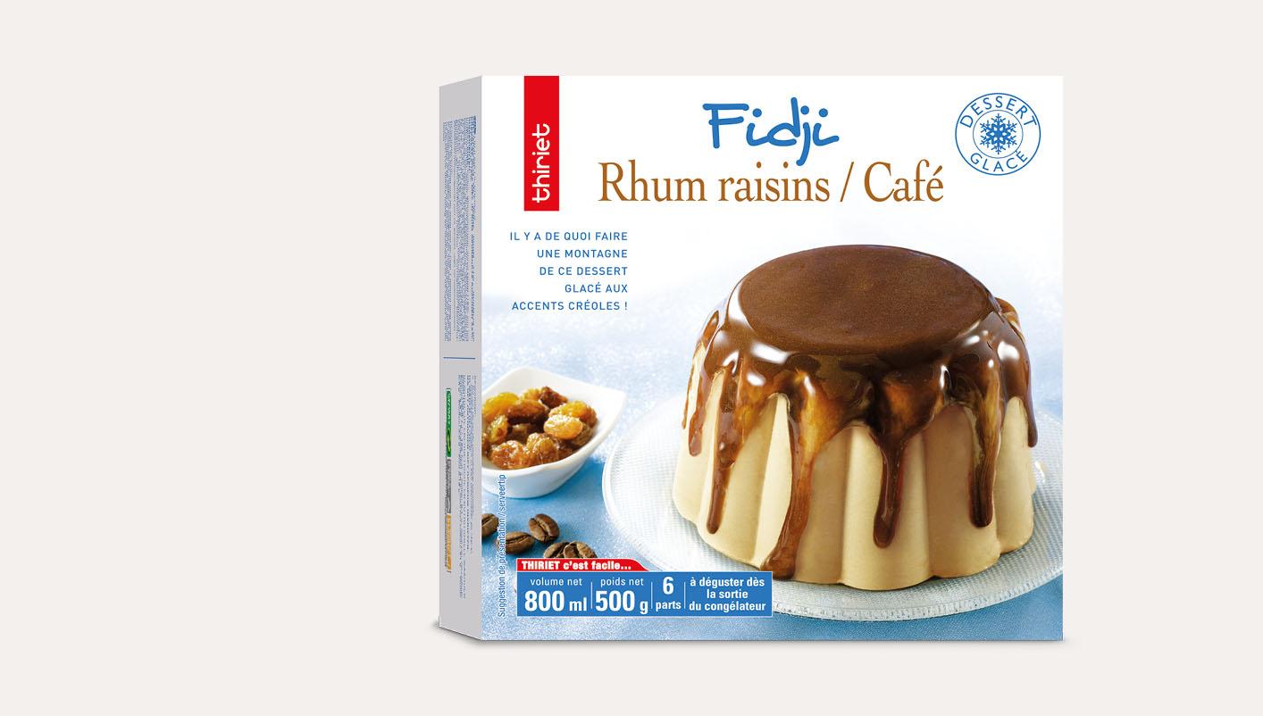Fidji rhum raisins/café