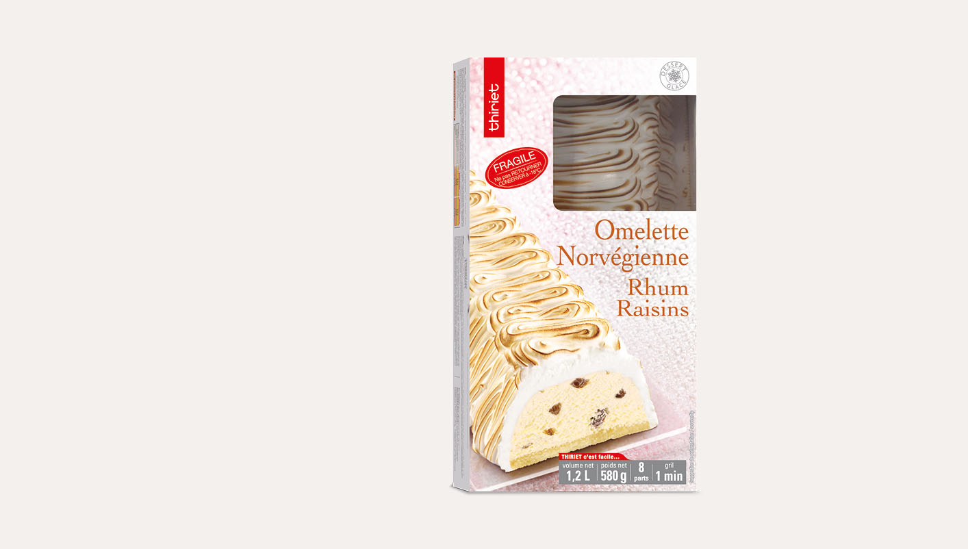 Omelette norvégienne rhum/raisins