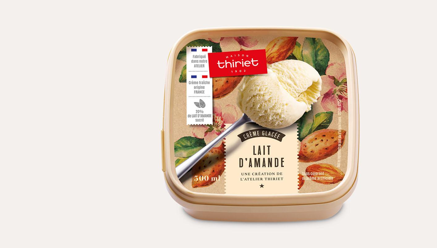 Crème glacée au lait d'amande