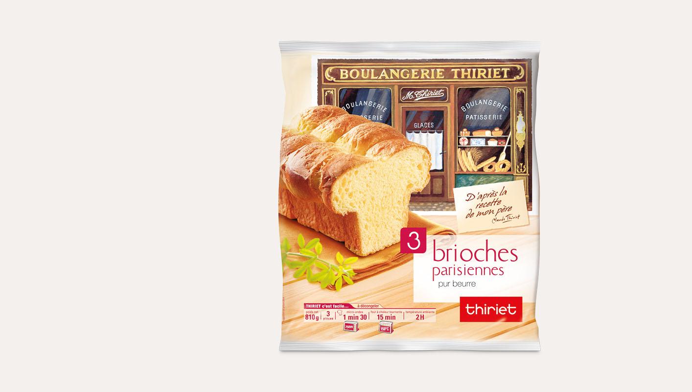 3 Brioches parisiennes pur beurre