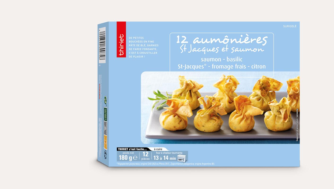 12 Aumônières St-Jacques/saumon