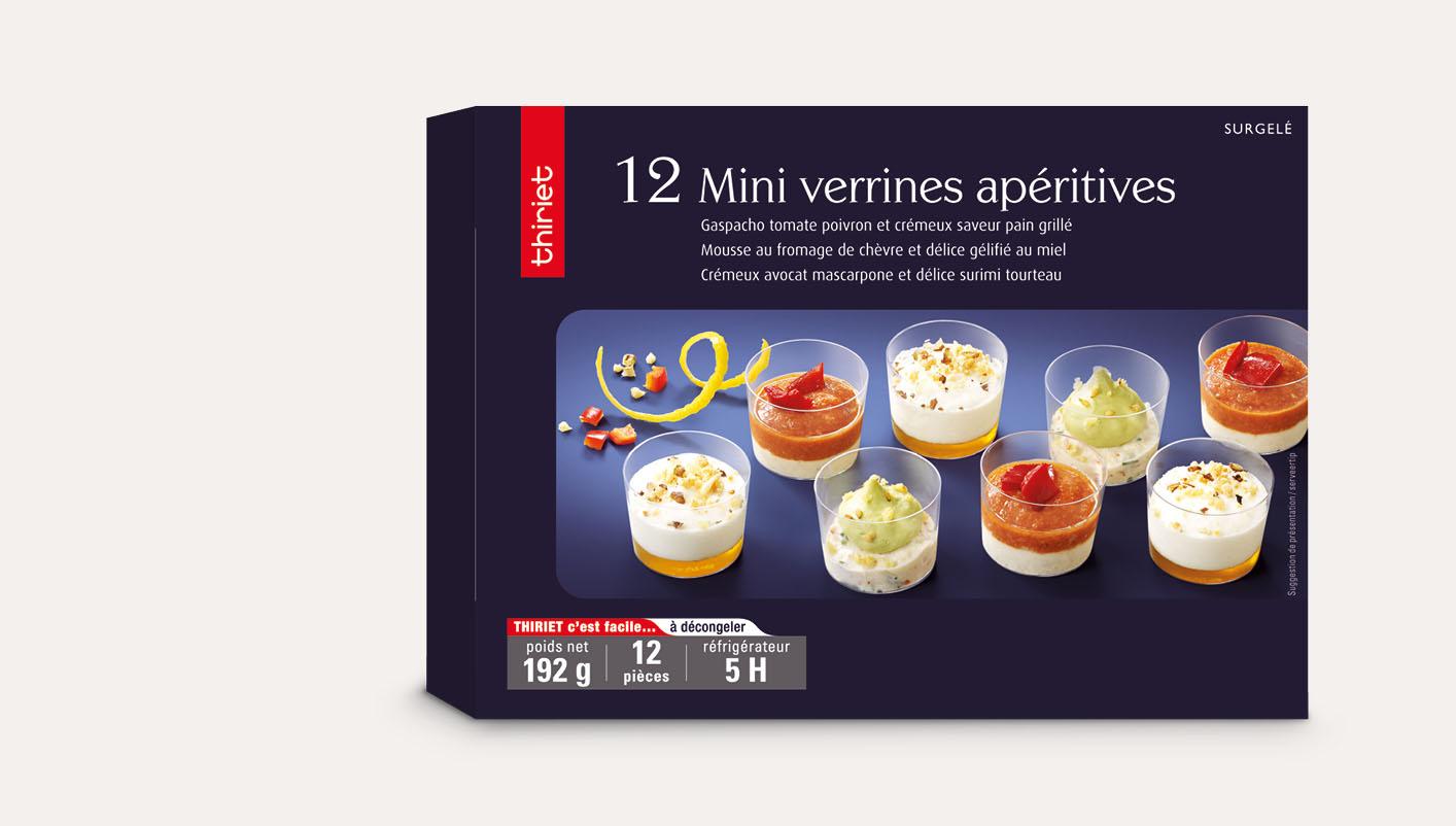 12 Mini verrines apéritives