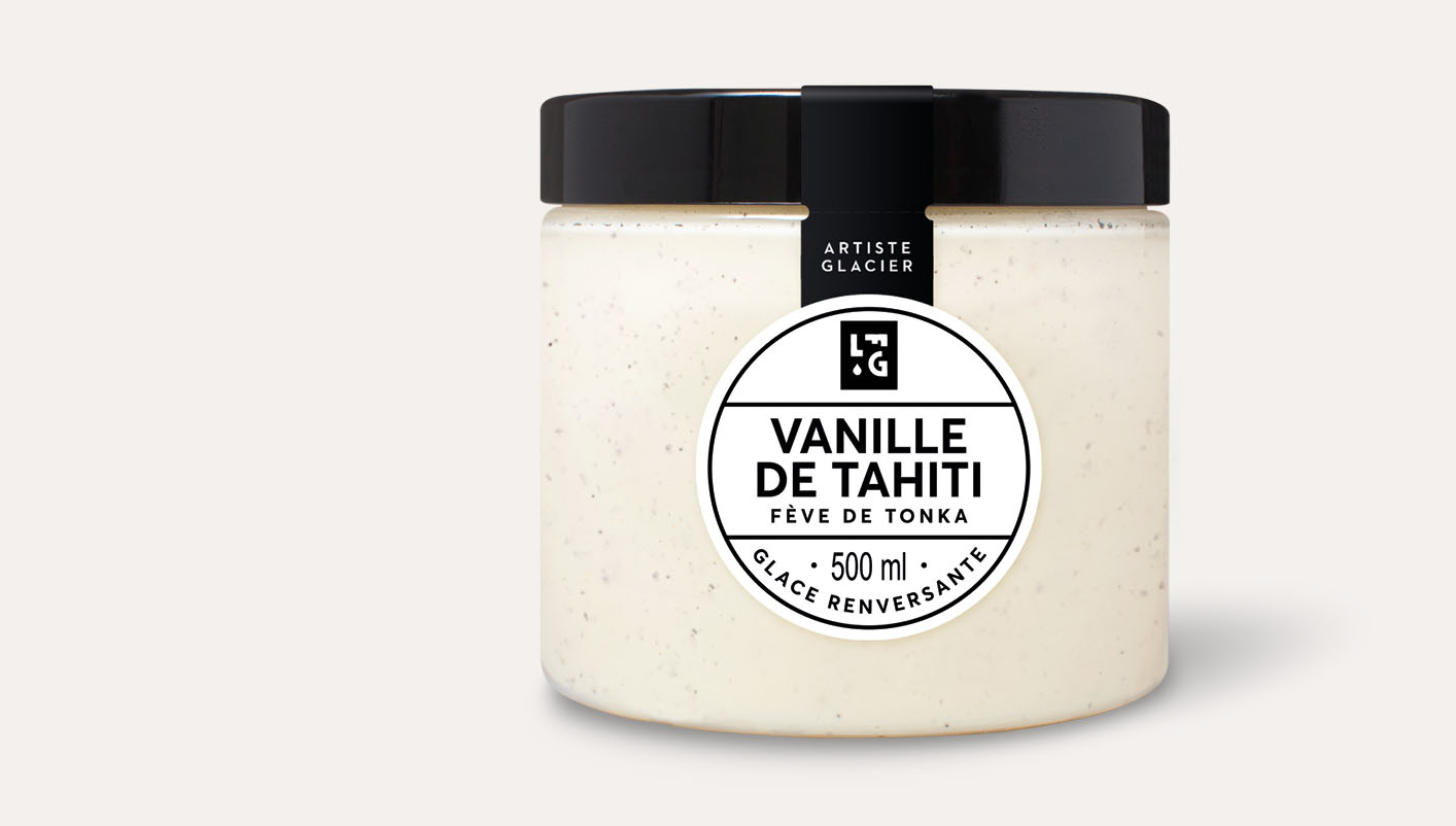 Crème glacée artisanale vanille de Tahiti et fève de tonka
