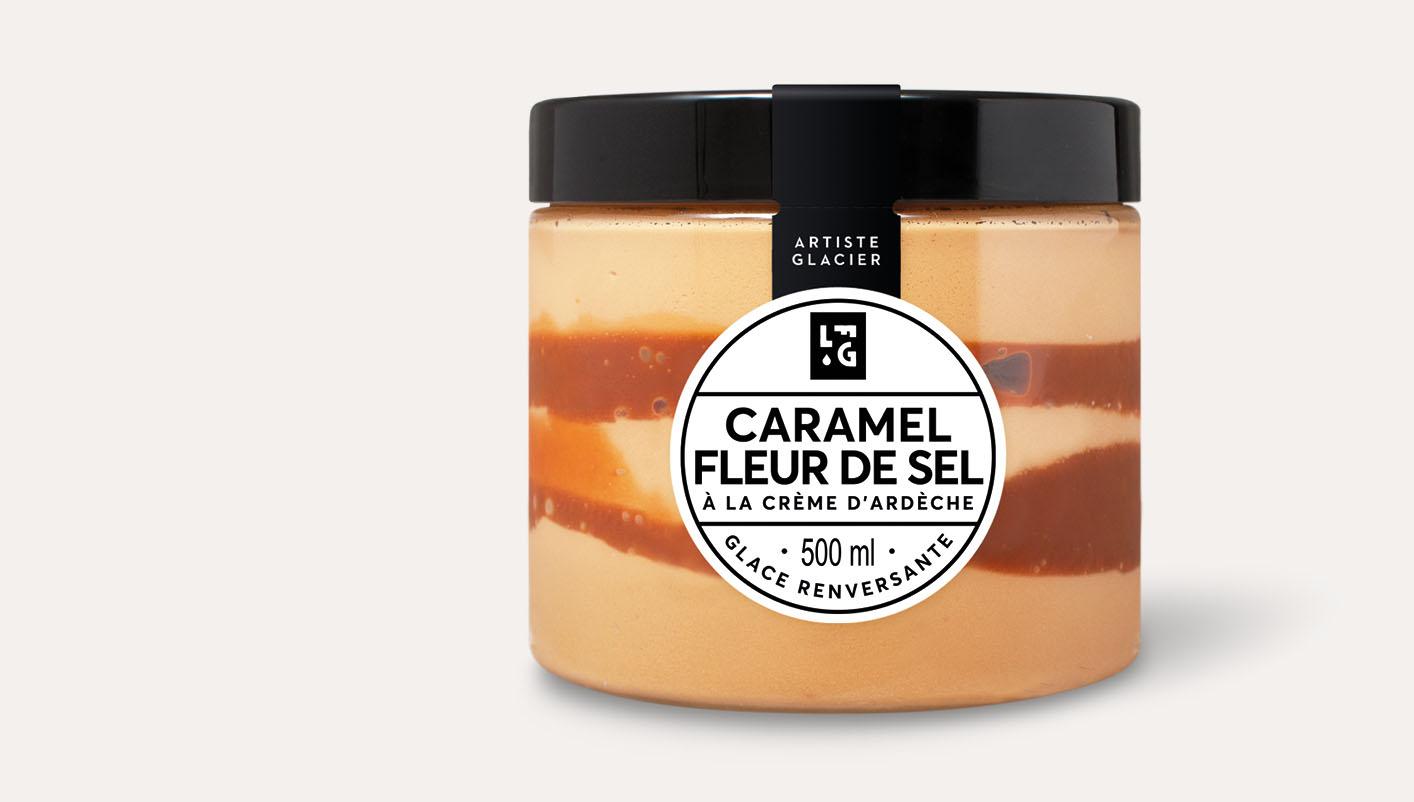 Crème glacée artisanale caramel à la fleur de sel