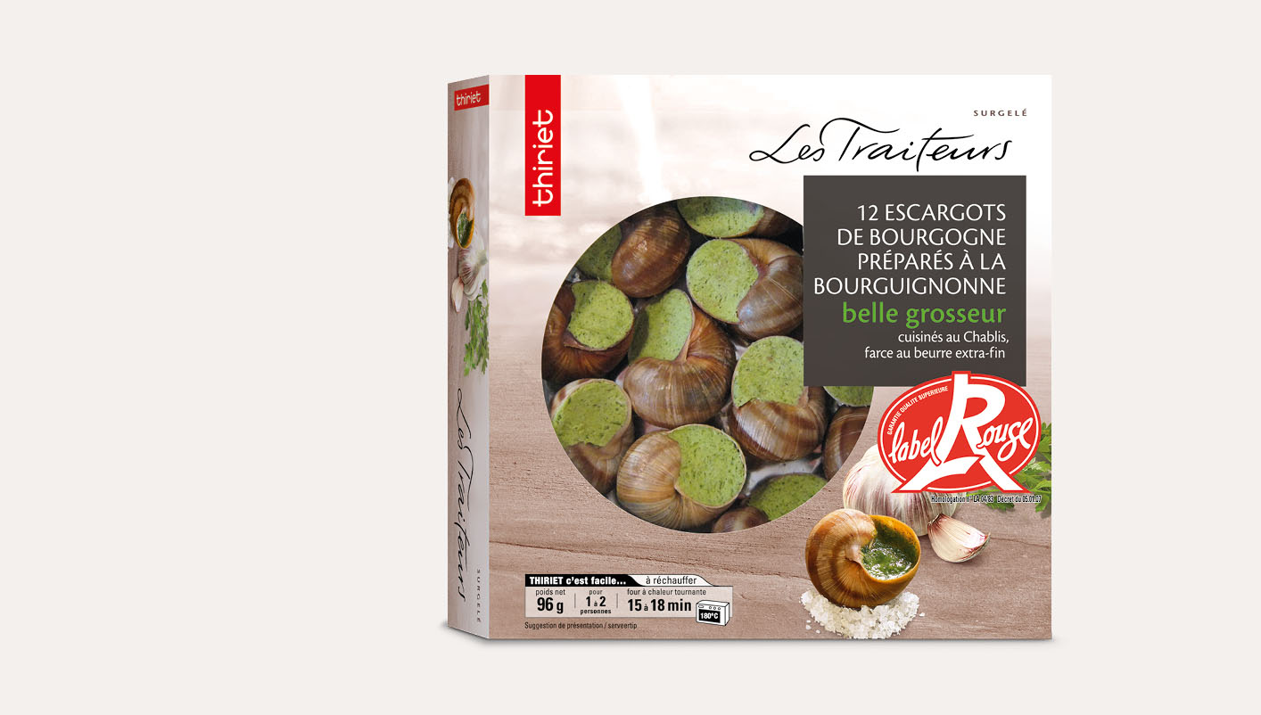 12 Escargots Bourgogne Label Rouge belle grosseur