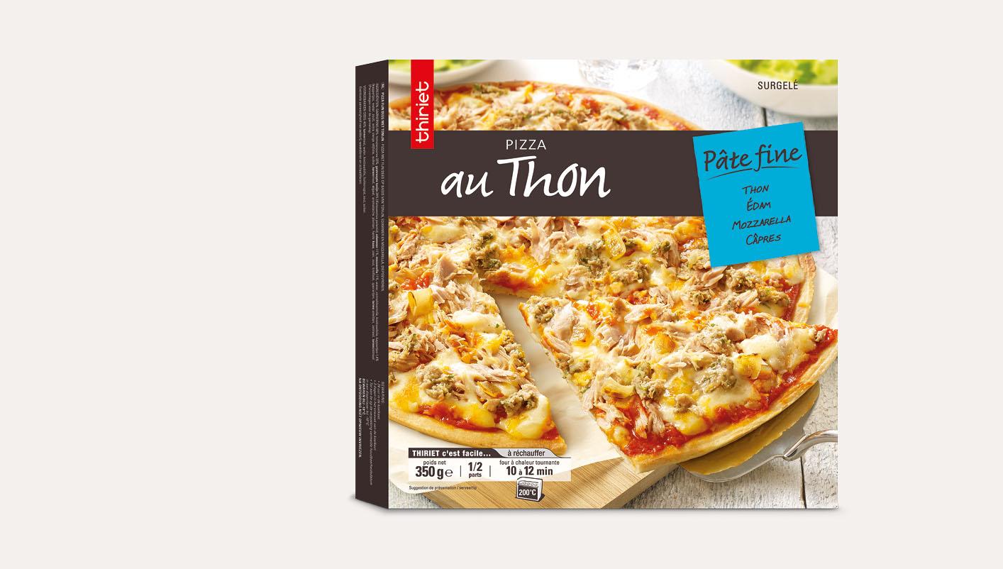 Pizza pâte fine au thon