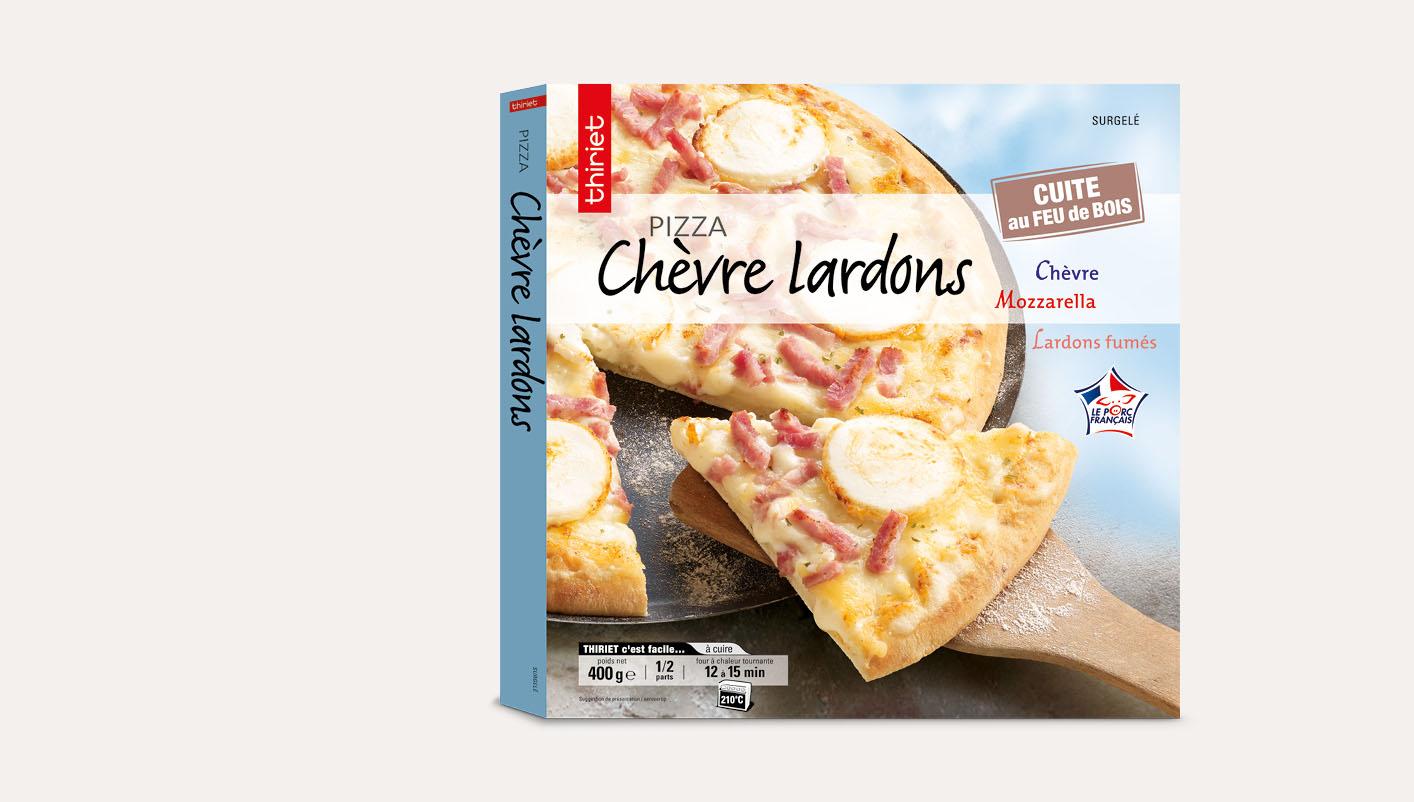 Pizza chèvre lardons