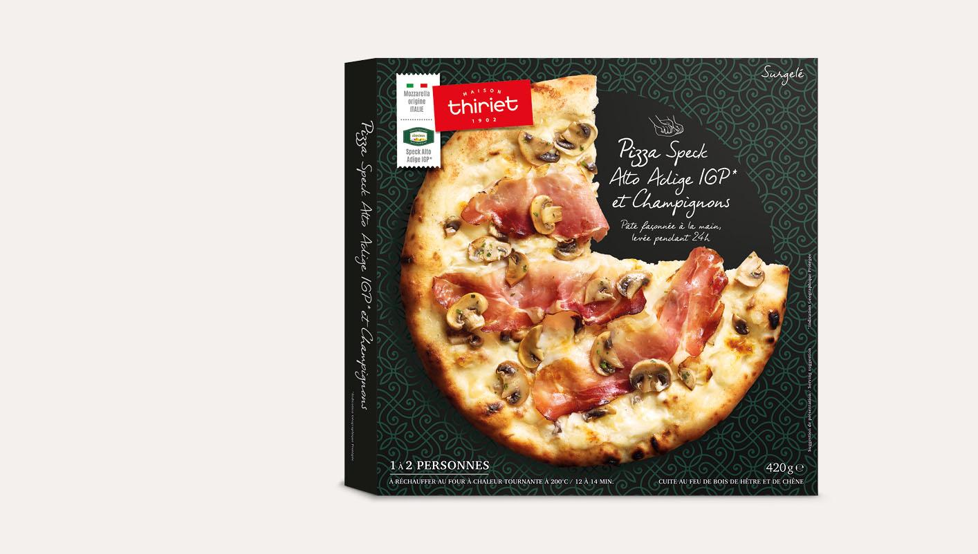 Pizza speck Alto Adige IGP et champignons Lot de 2 boîtes
