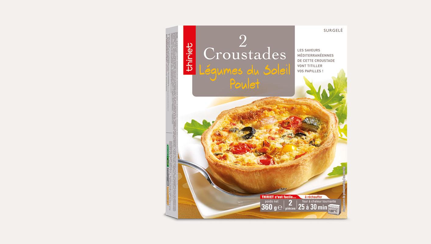 2 Croustades légumes du soleil/poulet