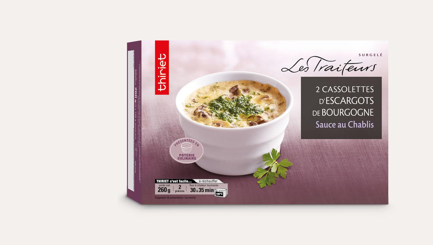 2 Cassolettes escargots de Bourgogne sauce Chablis