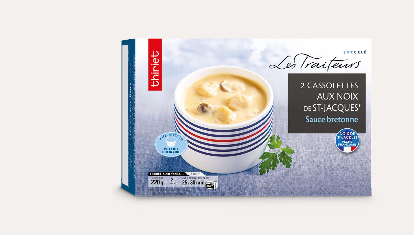 2 Cassolettes noix de St-Jacques*, sauce bretonne