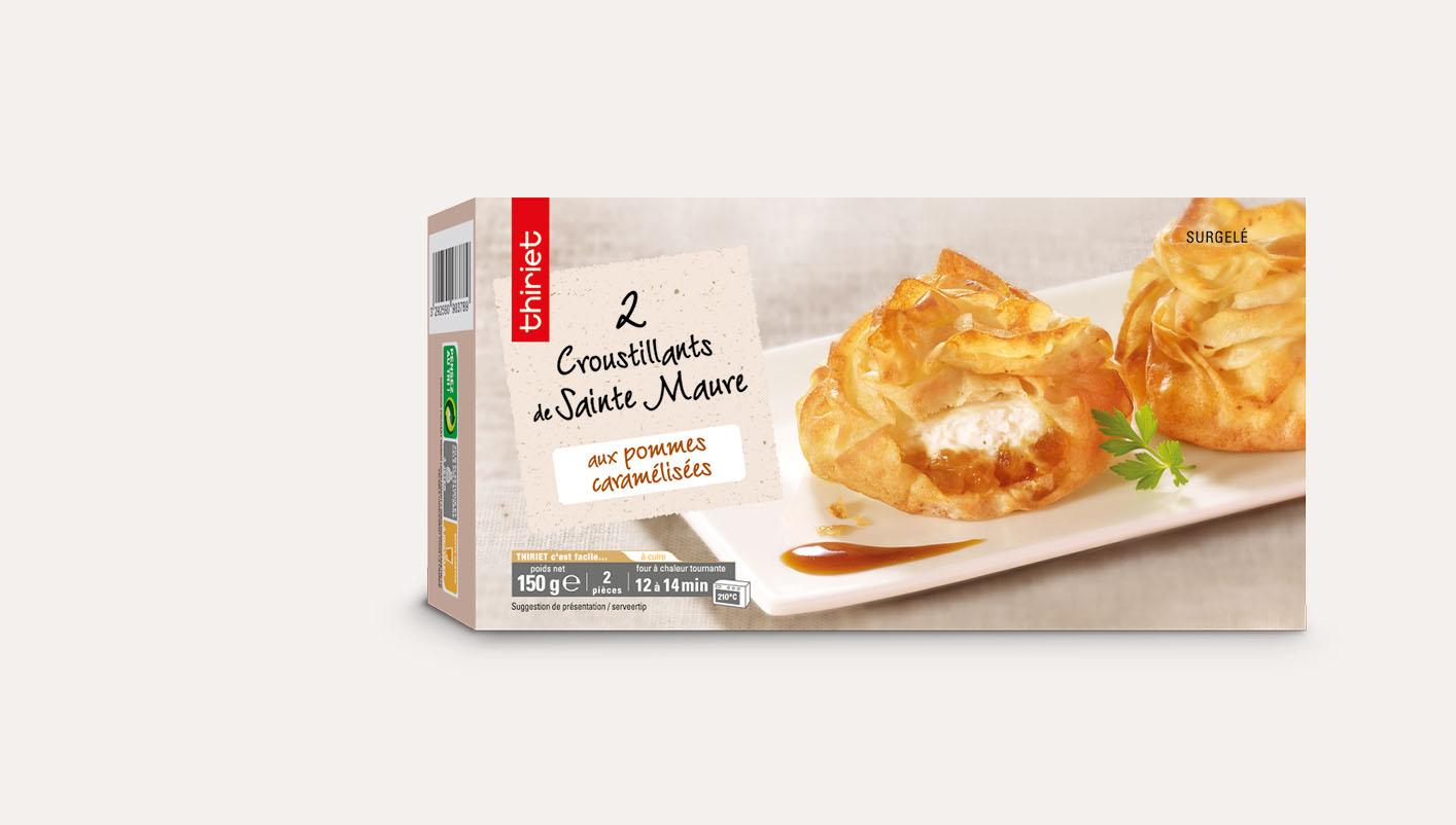 2 Croustillants Sainte Maure/pommes caramélisées