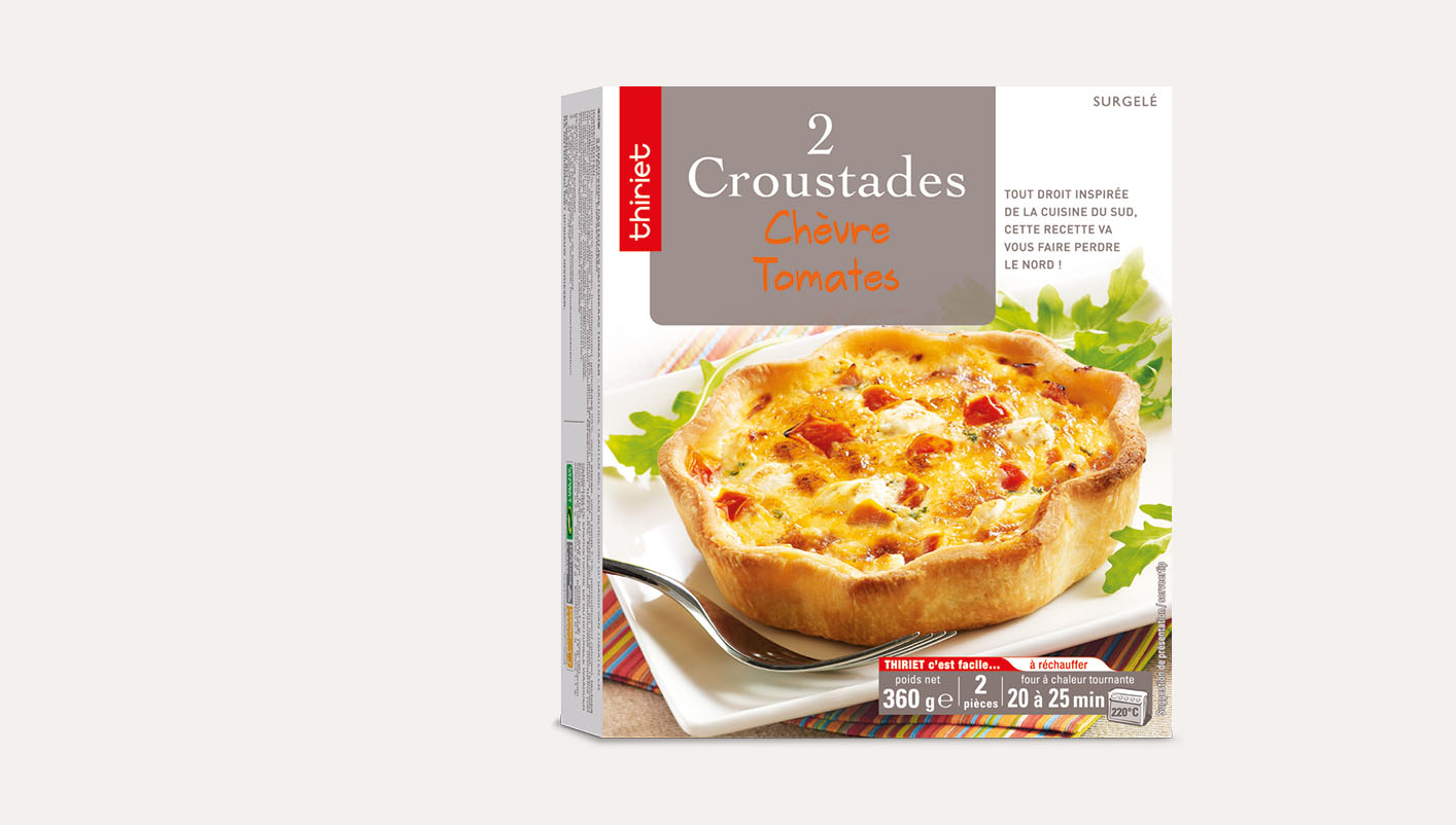 2 Croustades chèvre/tomates
