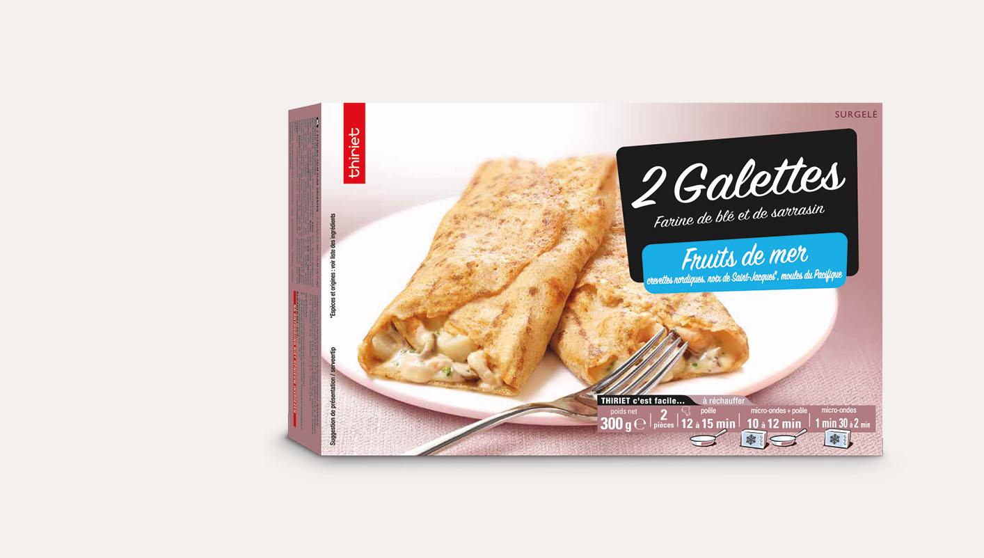 2 Galettes aux fruits de mer Lot de 2 boîtes