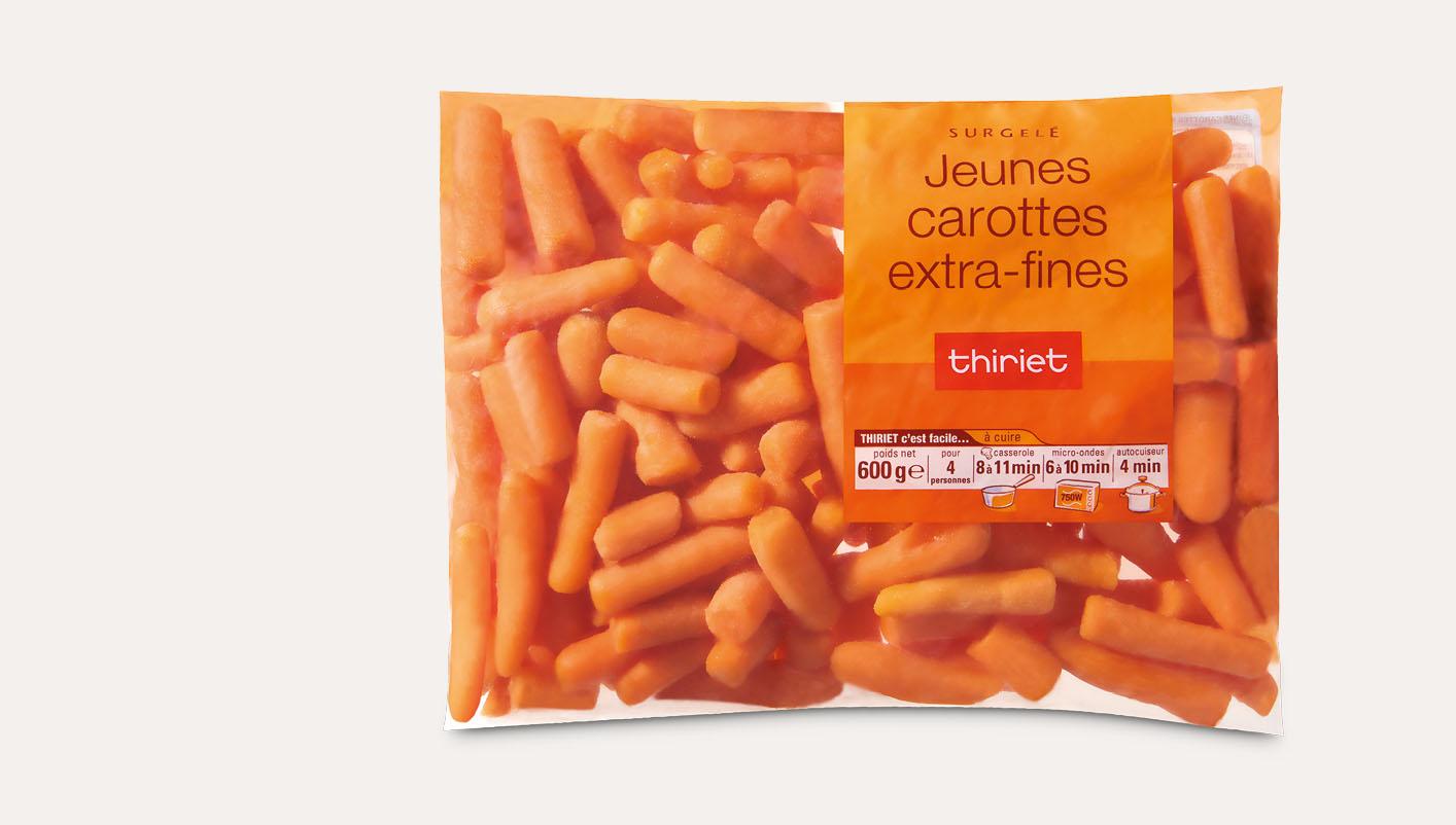 Jeunes carottes extra-fines
