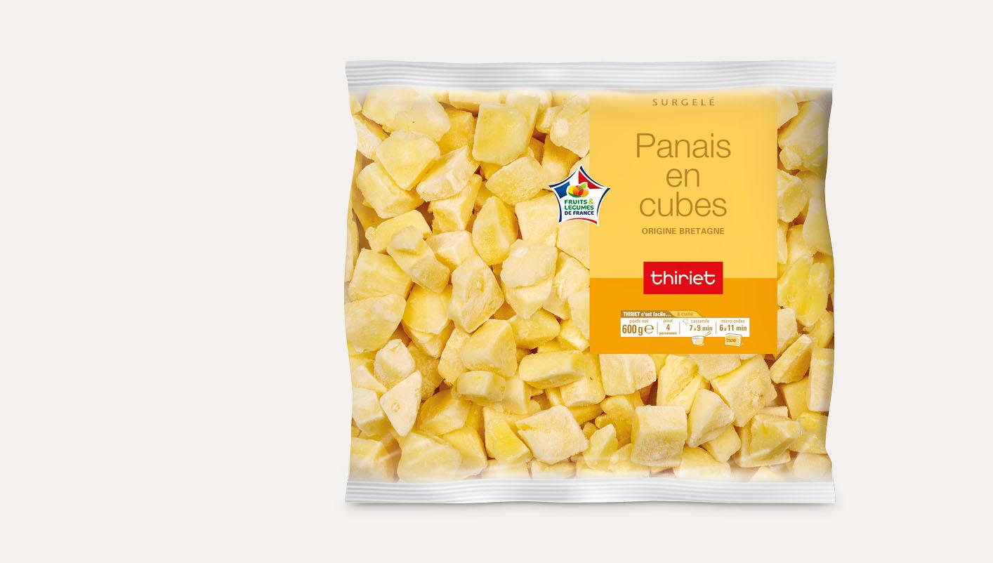 Panais en cubes