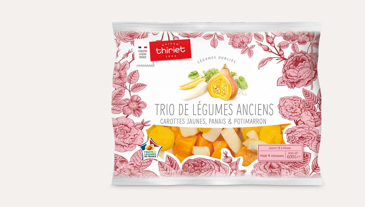 Trio de légumes anciens origine France