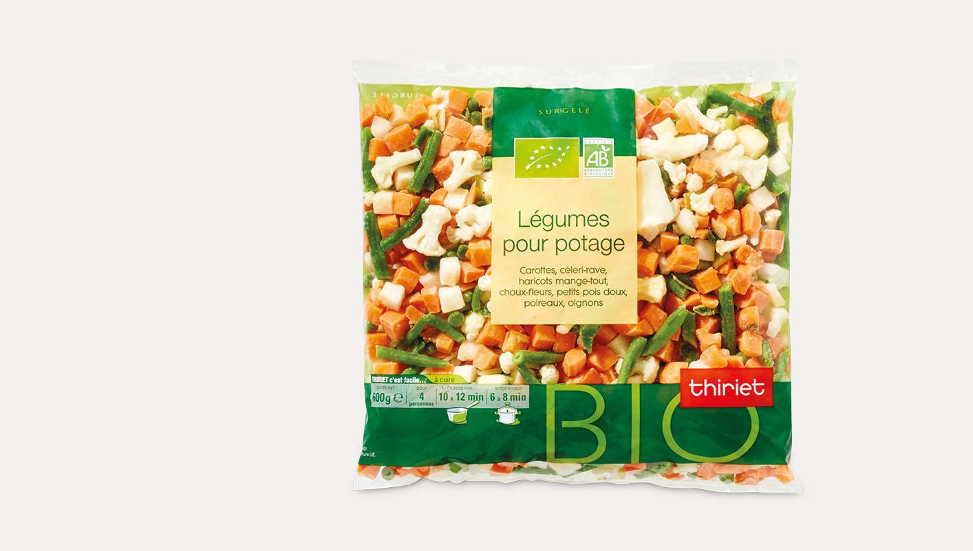 Légumes pour potage biologiques