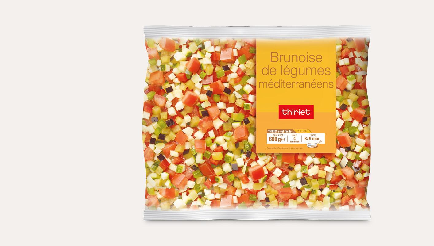 Brunoise de légumes méditerranéens