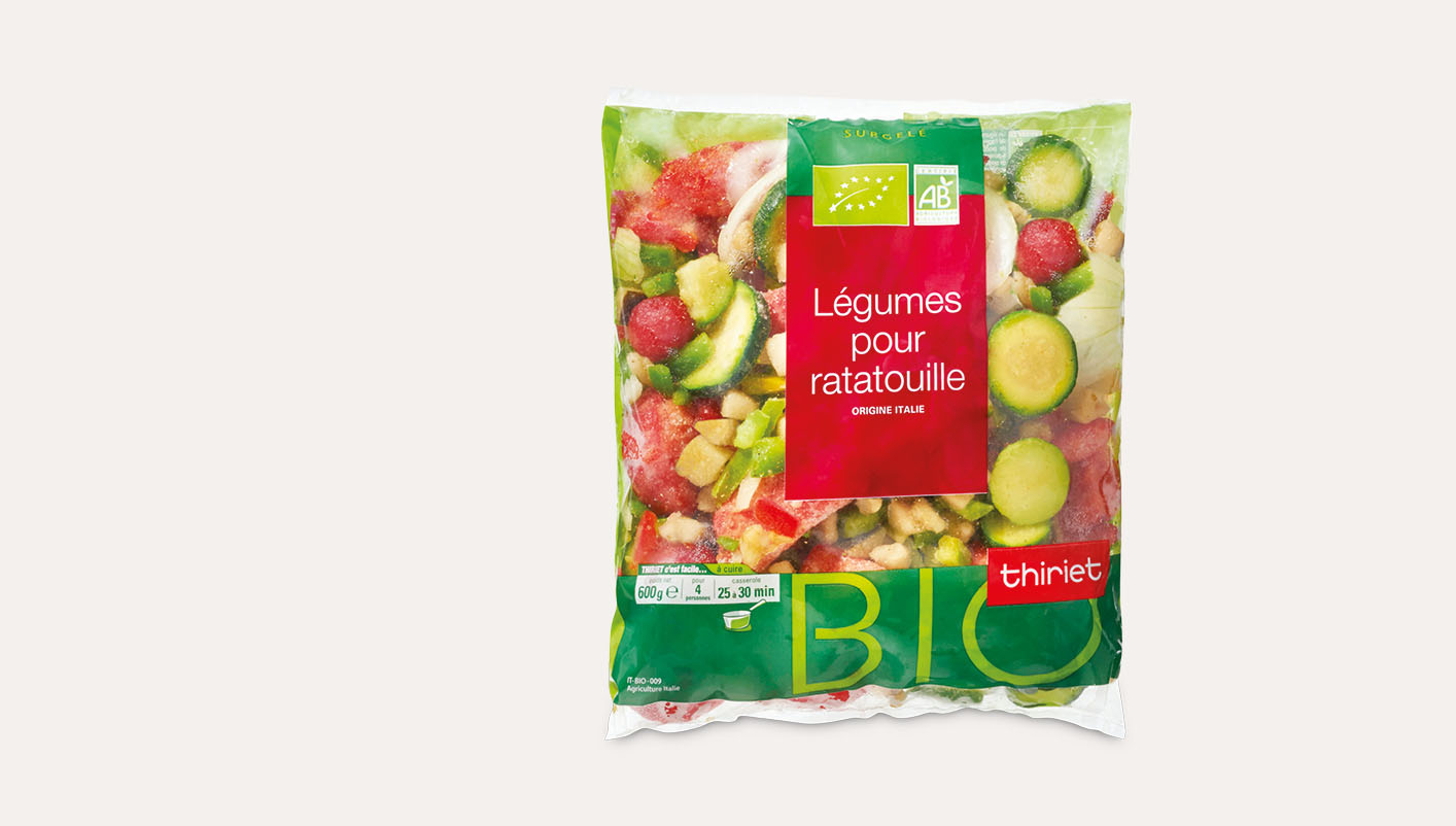 Légumes biologiques pour ratatouille