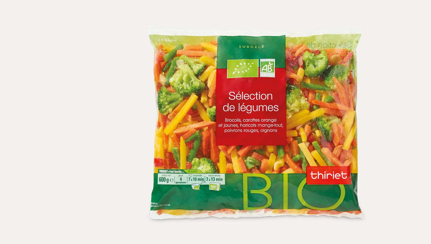 Sélection de légumes biologique
