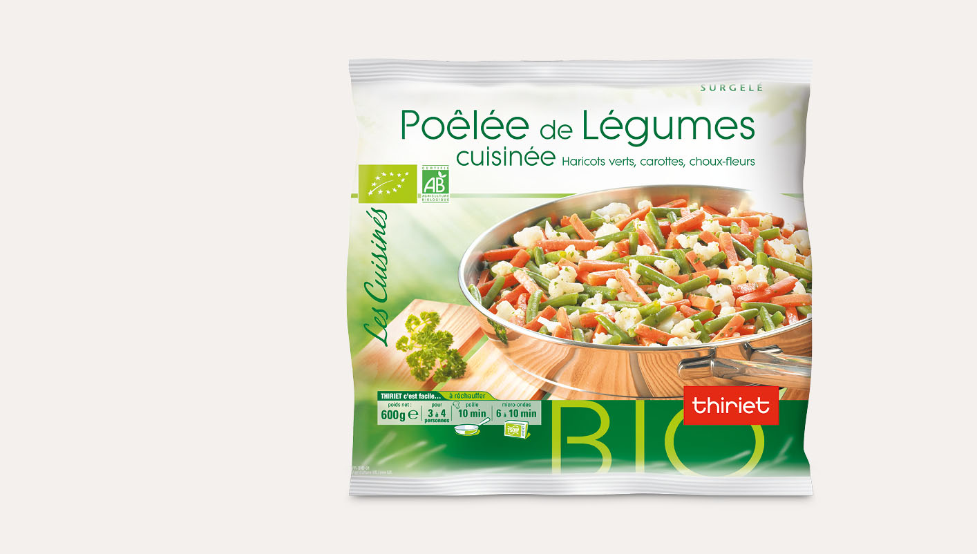 Poêlée cuisinée de légumes biologiques