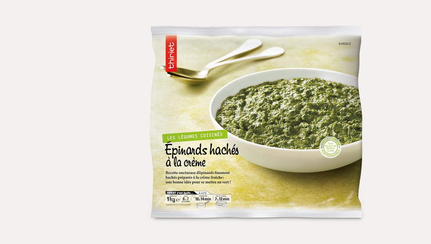Epinards hachés à la crème
