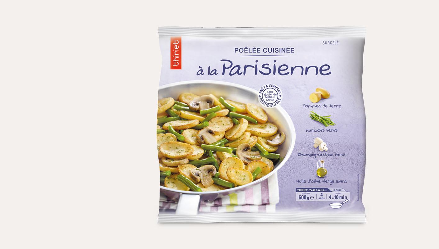 Poêlée cuisinée à la parisienne