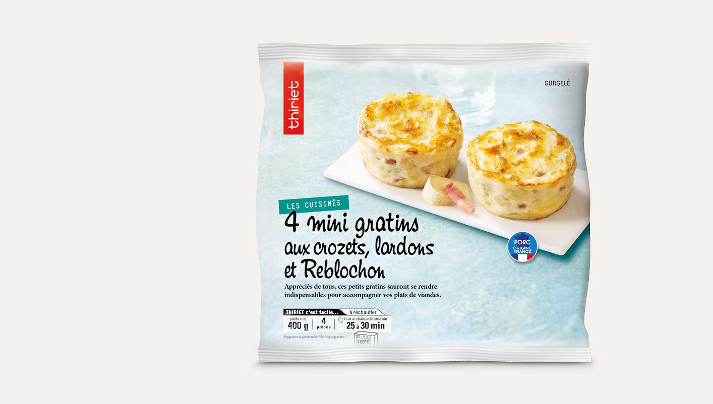 4 Mini gratins crozets lardons Reblochon